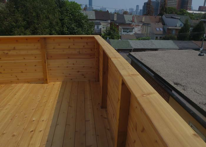 above garage walk-out deck construction services
