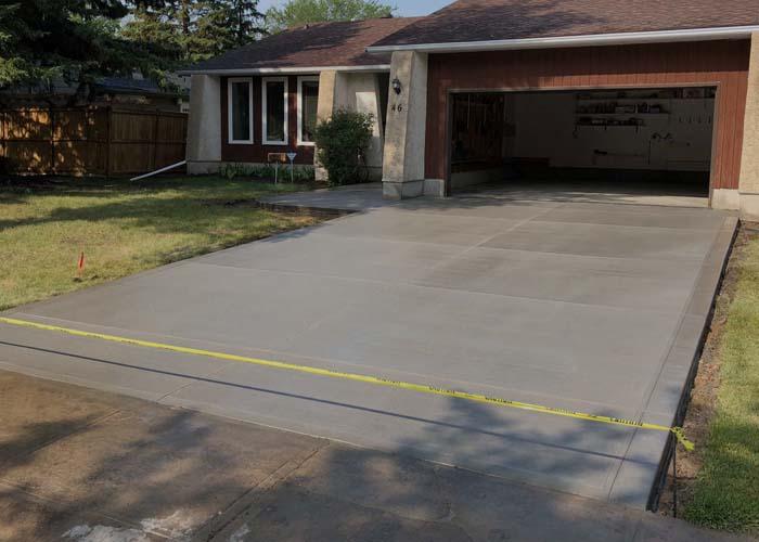 concrete work services - driveway