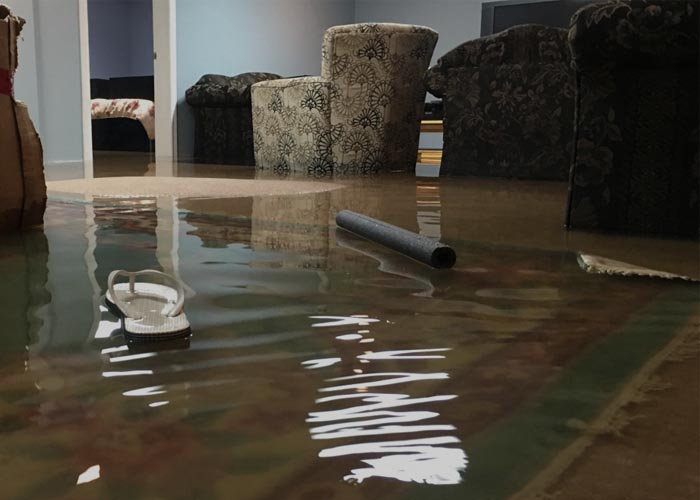 Water and Flood Damage Services - Flooded Basement